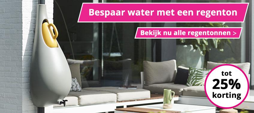 Bespaar water met een regenton!
