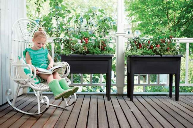 elho green basics kweektafel xxl living black kopen green basics wishpel bloempotten. Black Bedroom Furniture Sets. Home Design Ideas