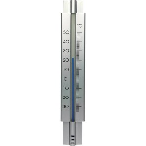 Thermometer metaal design 29cm